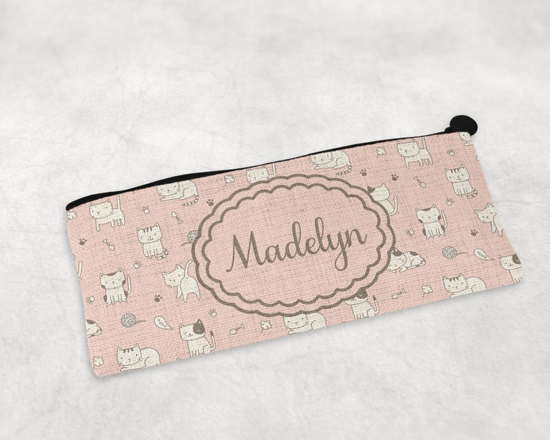 Cats Back To School Pencil Bag  Girls Pencil Pouch  image 0