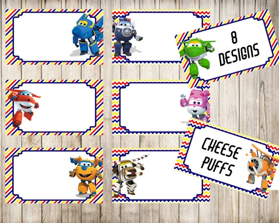 Super Wings Blank Food Tent Cards Labels Blank Place Cards Etsy
