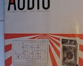 October 1955 Audio Engineering Magazine has 112 pages of ads and articles, Antique Radio,Stereo,Microphone, Amplifier ,Electronics Magazine