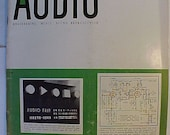 February 1955 Audio Engineering Magazine has 76 pages of ads and articles, Antique Radio,Stereo,Microphone, Amplifier ,Electronics Magazine
