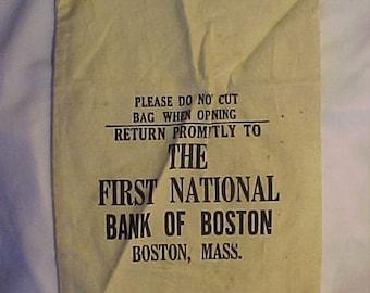 Mint Vintage  Canvas Money Bag Coin Bag 1 cent $50 U.S