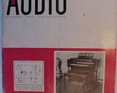 September 1955 Audio Engineering Magazine has 64 pages of ads and articles, Antique Radio,Stereo,Microphone, Amplifier ,Electronics Magazine