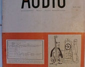 May 1954 Audio Engineering Magazine has 64 pages of ads and articles, Antique Radio,Stereo,Microphone, Amplifier ,Electronics Magazine