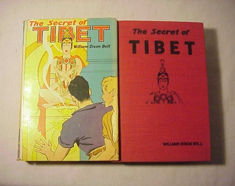1938 The Secret of Tibet By William Dixon Bell , Antique Book with DJ