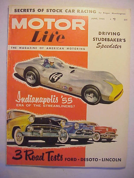 June 1955 Motor Life Magazine Has 66 Pages Of Ads And Etsy
