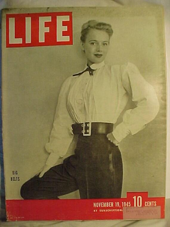 November 19 1945 LIFE Magazine With Rita Daigle From New York