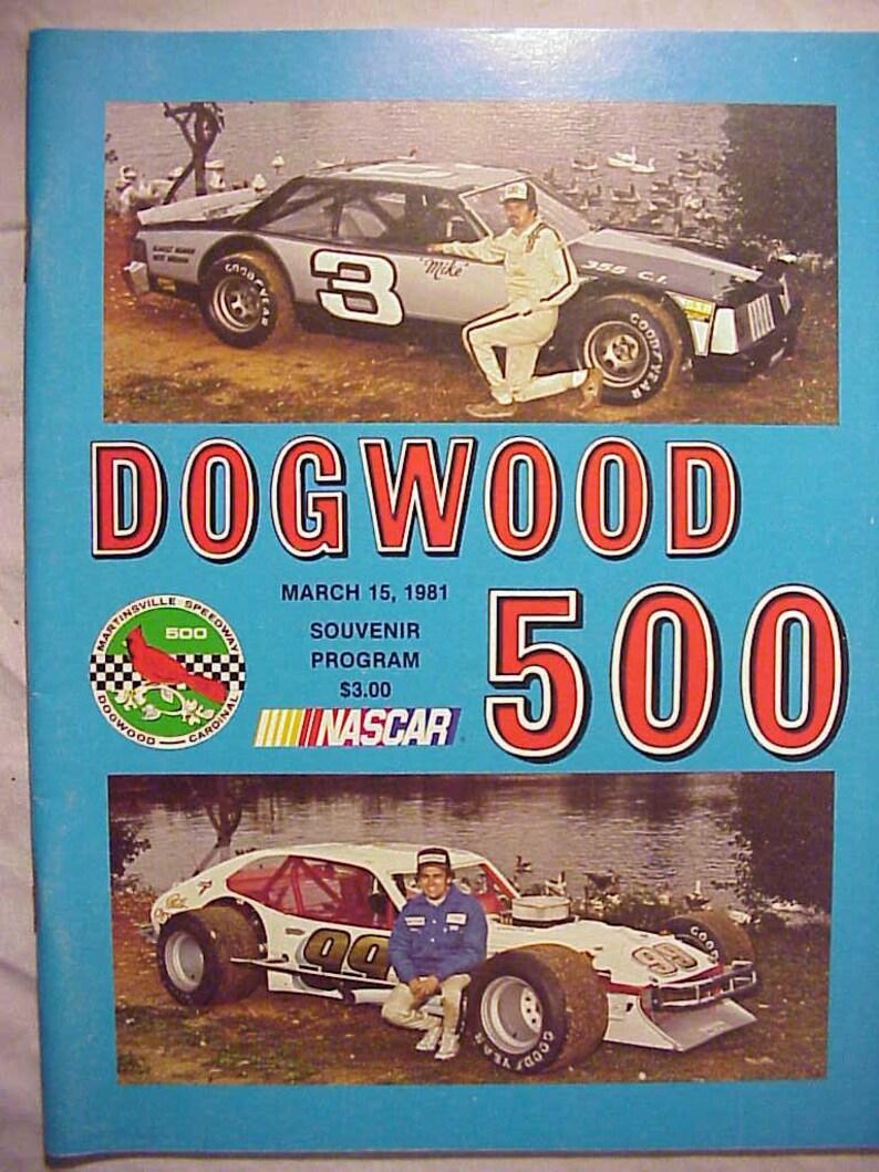 March 15, 1981 Dogwood 500 Classic Souvenir Program Martinsville Speedway  Martinsville, Virginia, NASCAR Stock Car Racing Program