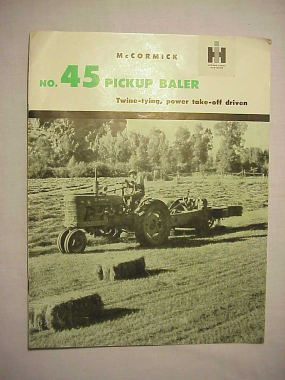 Business, Office & Industrial Mccormick Tractor Booklet Agriculture/farming