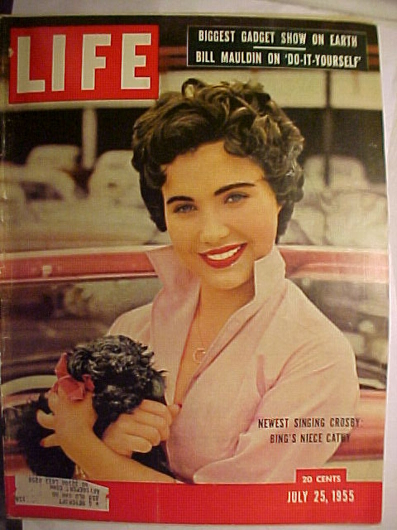 July 25, 1955 LIFE Magazine with Cathy Crosby on the Cover has 109 pages of  ads and articles, Birthday Gift Idea No 3