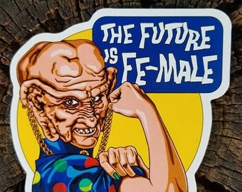 "Moogie ""The Future Is Female"" Vinyl Sticker Star Trek: Deep Space Nine"