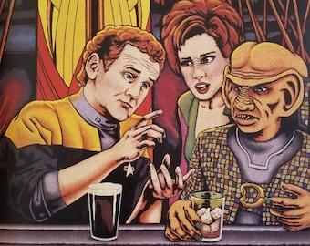 "Quark's Bar Labor Union 18""x24"" Poster Star Trek: Deep Space 9 ""Bar Association"""