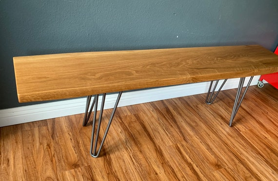 Miraculous Mid Century White Oak Bench Solid Wood Dining Bench 8 Theyellowbook Wood Chair Design Ideas Theyellowbookinfo