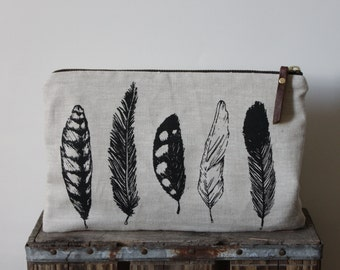 Feather Large Pouch