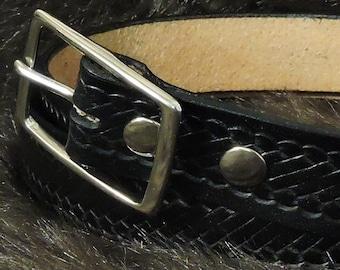 Rope Embossed 1.5in Custom Leather Work Belt