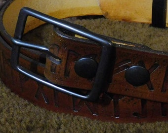 Futhark Embossed 1.5in Custom Leather Work Belt