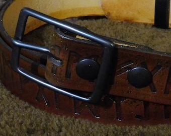 Futhark Embossed 1.5in Custom Leather Work Belt