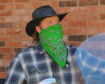 High Visibility Paisley Traditional 22in Bandanna / Face Cover (2 Colors, USA Made)