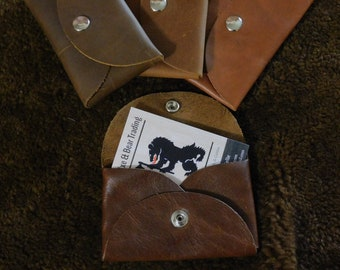 Coin & Card Leather Pouch