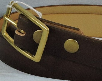 Plain 1.5in Custom Leather Work Belt