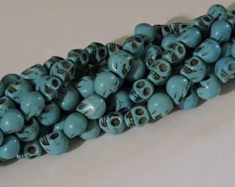 Howlite Skull Bead Strands (12-13mm)
