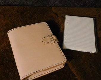 Vintage Style 6-Ring Leather Journal / Notebook / Planner