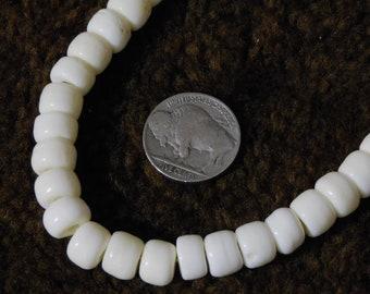 White Bone Crow Beads, 9mm (60pc)