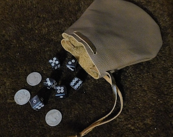 Basic Dice / Coin Leather Pouch