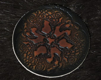 Celtic Wolf Patch (3.5in)