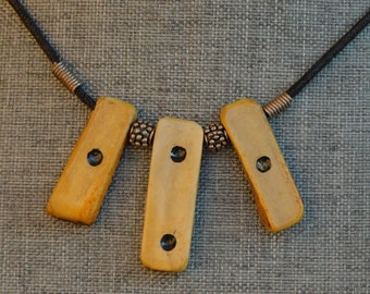 Lacquered Antler Tile Necklace