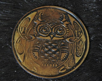 Celtic Owl Patch (3.5in)