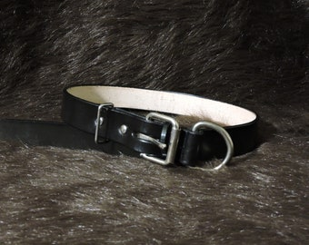 Large 1.25in Leather Dog Collar (17-25in)