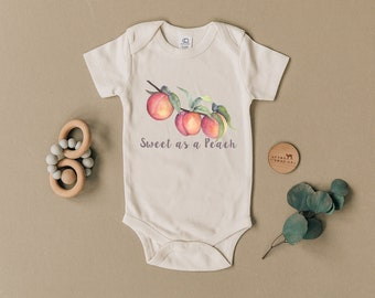 Southern Onesie\u00ae Country Baby Clothes Peach Onesie Georgia Peach Onesie Organic Onesie\u00ae Southern Baby Organic Baby Clothes