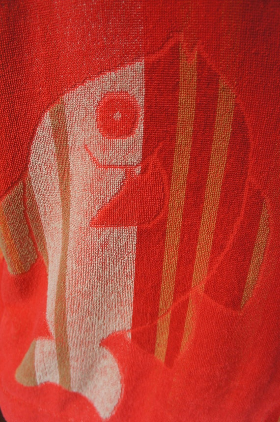 TERRY CLOTH FISHES Vintage 1940's Funnel Sleeve T… - image 3