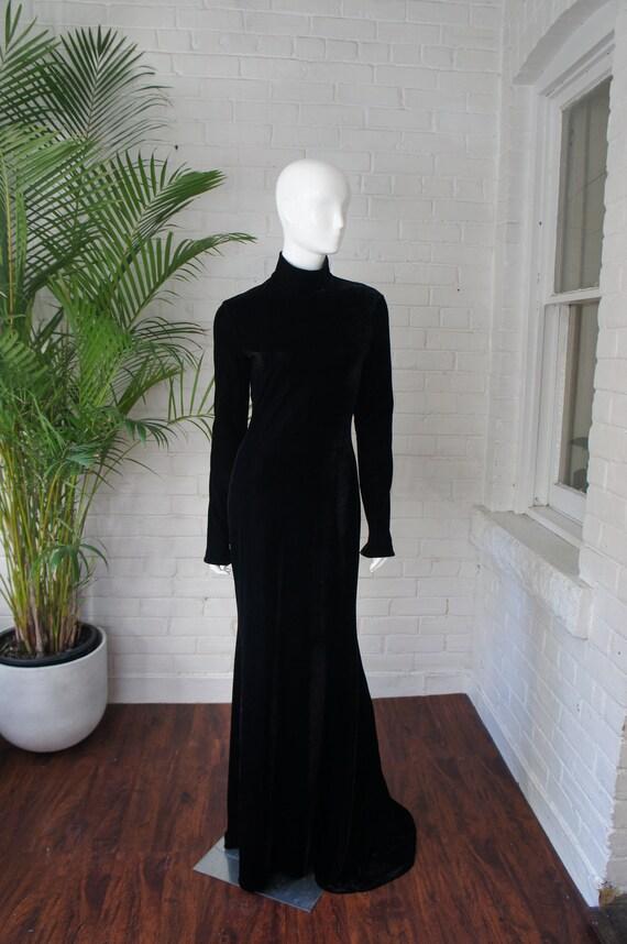 WAYNE CLARK Vintage 1990's Stretch Black Jersey Ve