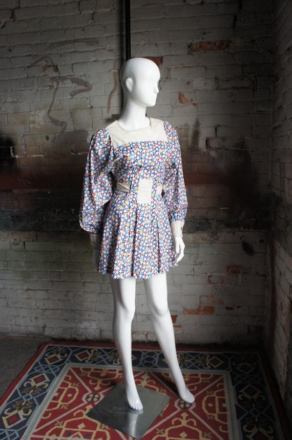 HELENE ROBERTSON Vintage 1960's Polka-Dot Cotton M