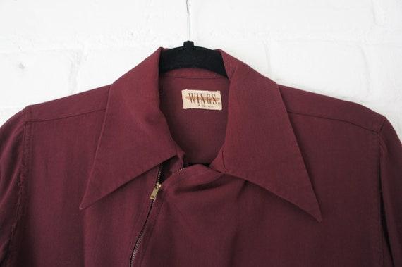 WINGS Vintage 1940's Men's Workwear Shirt, Burgund