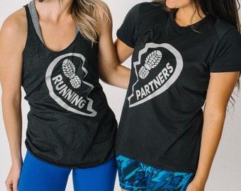 Running Partners 2 Shirt Bundle ~ Half Marathon Gift ~ Race Day Shirt ~ Gifts For Runners