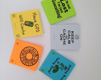 5 Matchbook Notepads - Geocaching Swag