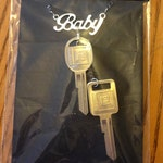 Baby's Keys Supernatural Inspired Necklace with 1967 Impala Keys and Baby Charm