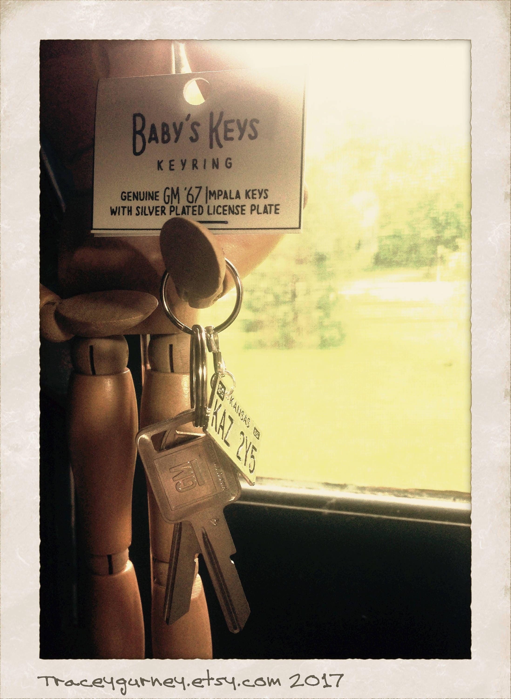Supernatural Baby 1967 Impala Keys with Kansas License Plate