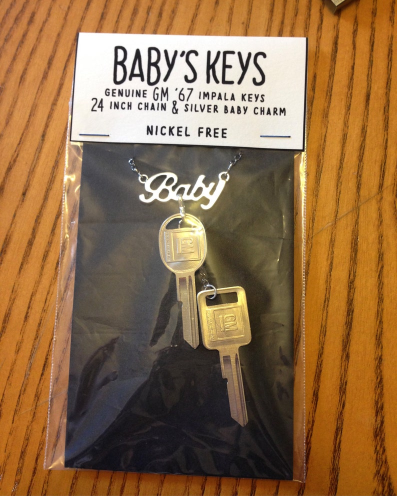 Baby's Keys Supernatural Inspired Necklace with 1967 image 0