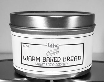 Warm Fresh Baked Bread Scented Soy Candle