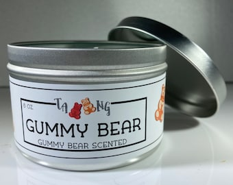 Gummy Bear Scented Soy Candle