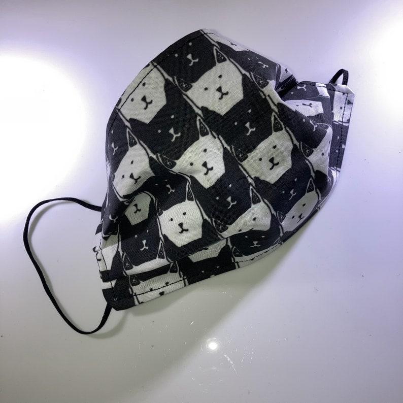 Cat Head Pattern Reusable Face Mask image 0