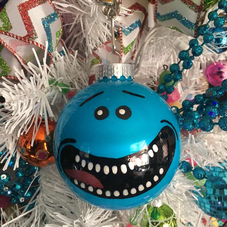 Mister Meeseeks Set of Four Ornaments image 0
