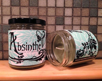 Absinthe Inspired Scented Soy Candle