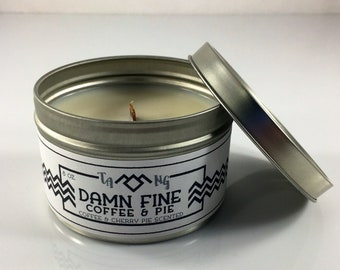 Damn Fine Coffee and Pie - Twin Peaks Inspired Scented Soy Candle