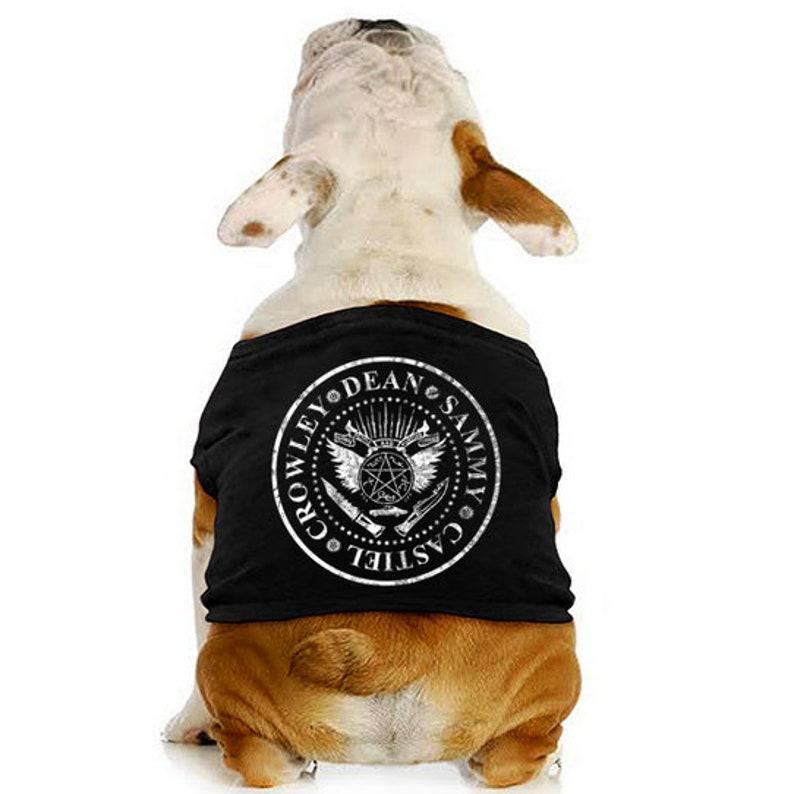 Supernatural Inspired Symbol Dog Tee image 0