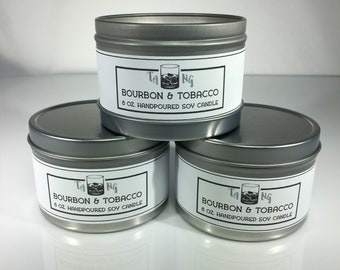 Bourbon and Tobacco Scented Soy Candle