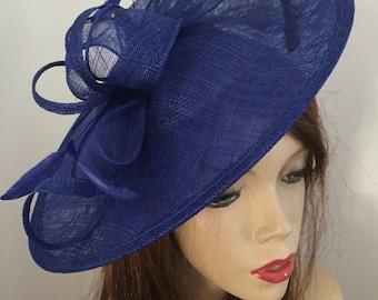 fb7d4d81537 Cobalt Blue Fascinator Hat saucer hatinator